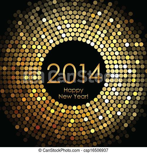 Frohes neues Jahr 2014. - csp16506937