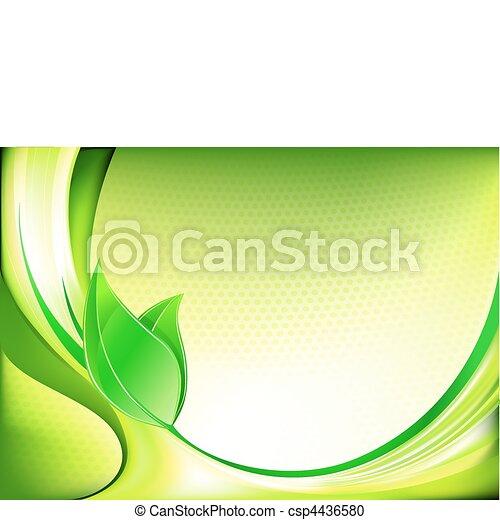fruehjahr, abstrakt, hintergrund - csp4436580