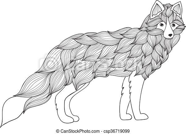 Fuchs , Hund oder Wolf der Wellen - csp36719099