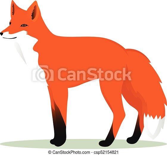 Fox Cartoon - csp52154821