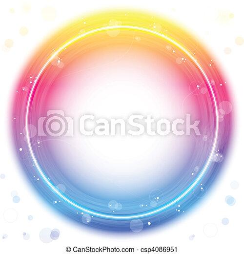 Roter Kreis mit Funken und Draht. - csp4086951