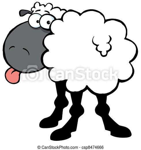Funky schwarze Schafe - csp8474666