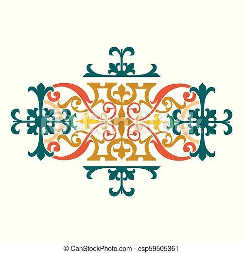 Garnished künstlerisches Design. - csp59505361