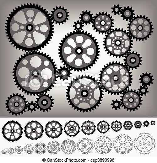Gear-Sammlung - csp3890998