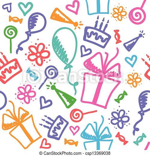 Geburtstagsmuster - csp13369038