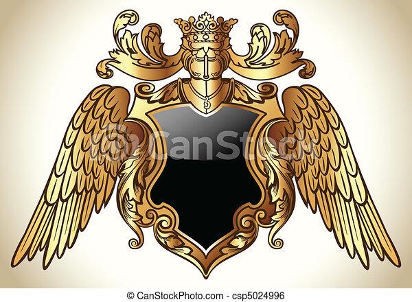 Geflügeltes Emblem Gold - csp5024996