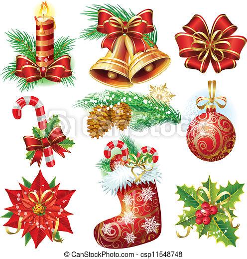 Weihnachtsgegenstände - csp11548748