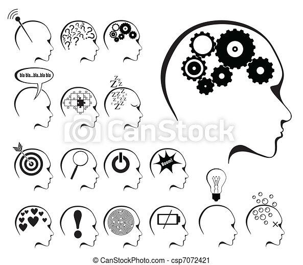 Gehirnaktivität und staatlich festgelegte Ikone - csp7072421