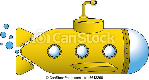 Gelbes U-Boot - csp5643266