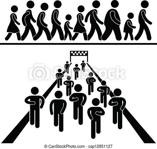 Gemeinschaftlicher Spaziergang - csp12851127
