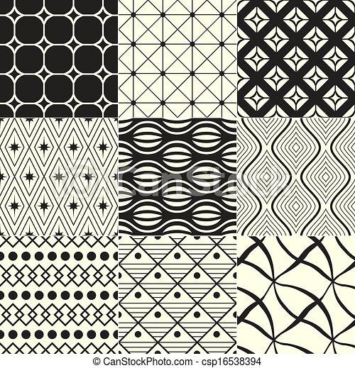 Geometrischer schwarz/weißer Hintergrund. - csp16538394