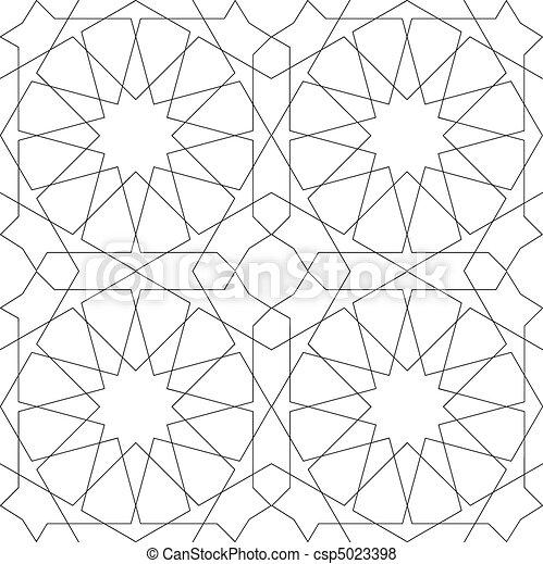 Geometrisches, nahrloses Muster weiß - csp5023398
