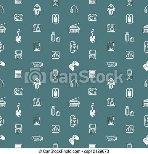 Seamless Gadgets Hintergrund-Stimme - csp12129673