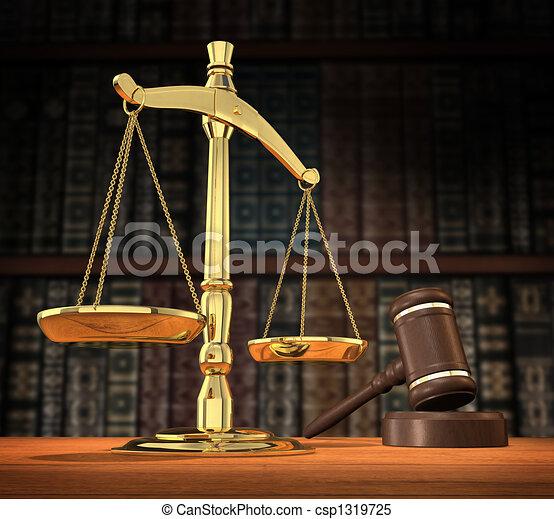 Gerechtigkeit wird serviert. - csp1319725