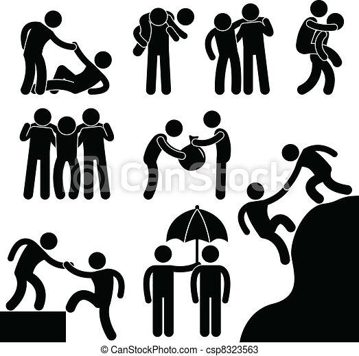 Geschäftsfreunde helfen einander - csp8323563
