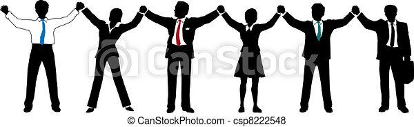 Geschäftsleute halten Händchen - csp8222548