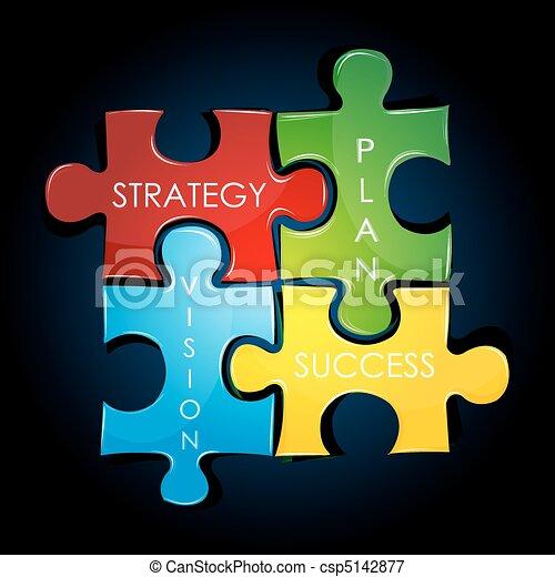 Geschäftsstrategie und Plan. - csp5142877