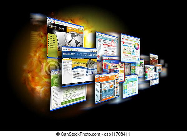 geschwindigkeit, schwarz, websites, internet - csp11708411