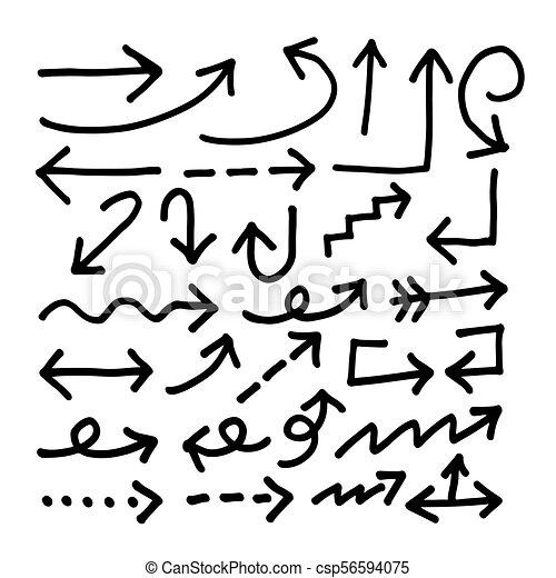 Hand gezeichnetes Pfeilsymbol - csp56594075