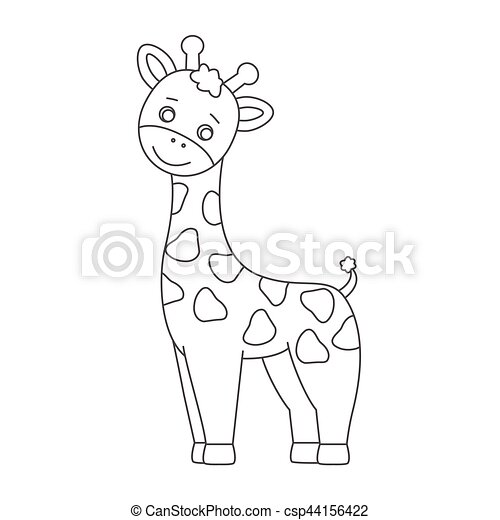 Giraffe für Farbbuch. - csp44156422