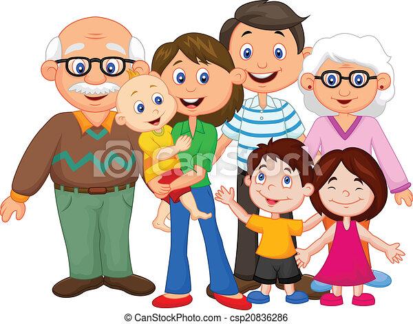 Glückliche Cartoon-Familie. - csp20836286