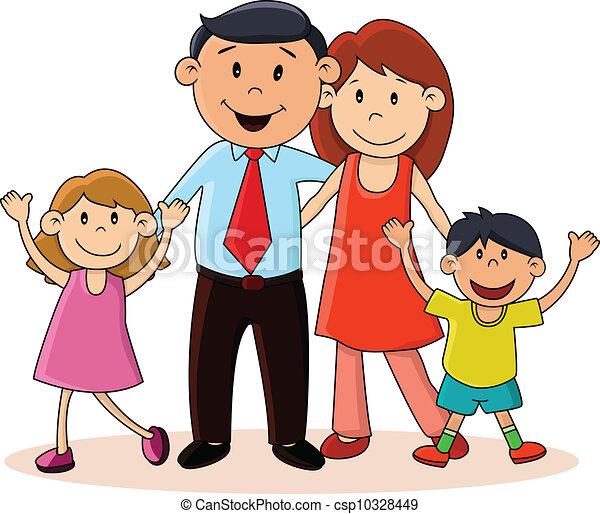 Glückliche Familie - csp10328449