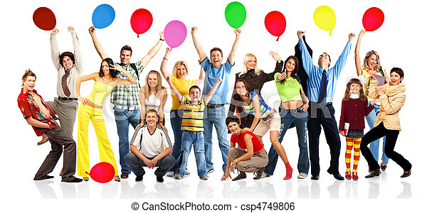 Glückliche Menschen mit Eiern - csp4749806