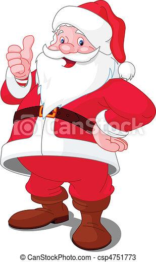 glückliches weihnachten, santa - csp4751773