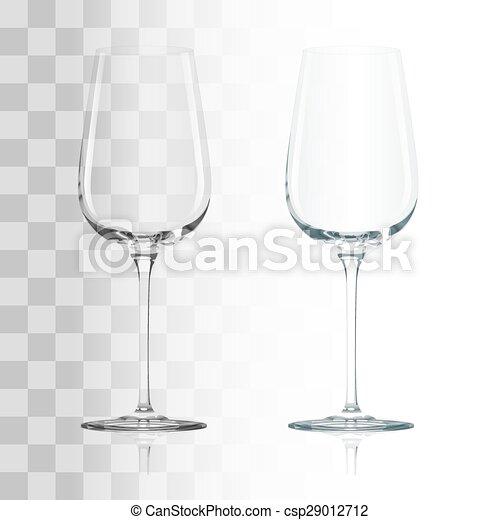 glas, durchsichtig, leerer  - csp29012712
