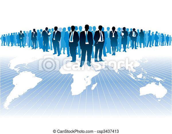Globales Geschäft - csp3437413