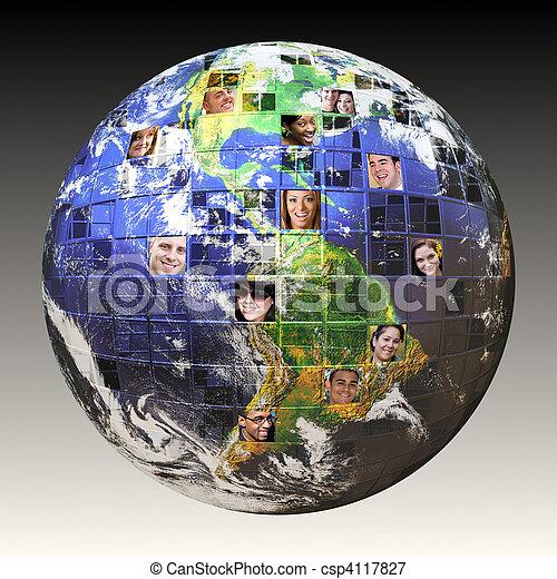 Globales Netzwerk von Menschen - csp4117827