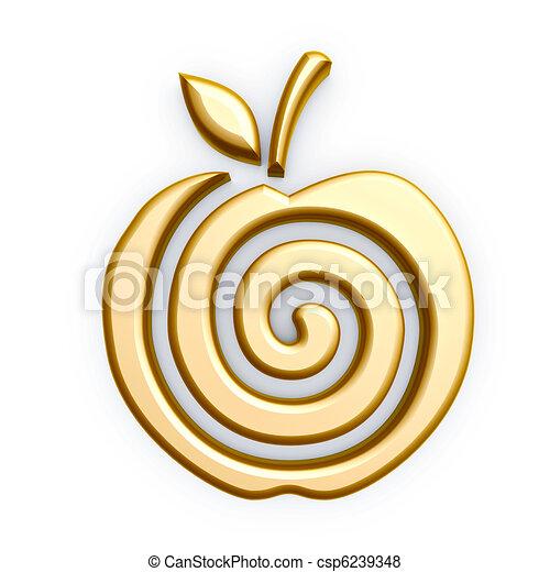 Goldapfelsymbol - csp6239348