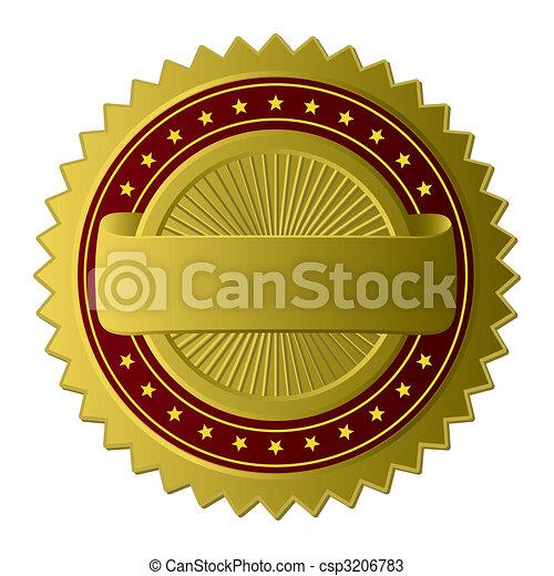 Goldene Label (Vector) - csp3206783