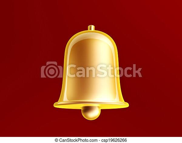 Goldglockensymbol. - csp19626266