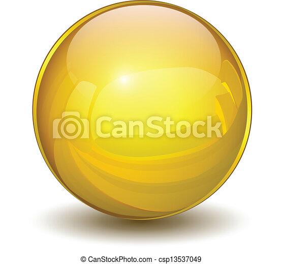 Goldkugel - csp13537049