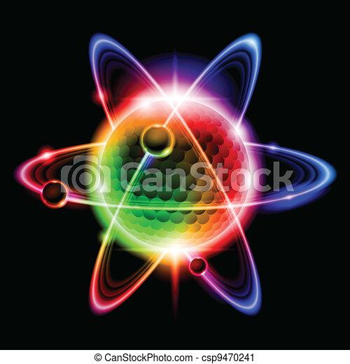 Grüne Atome Elektron - csp9470241