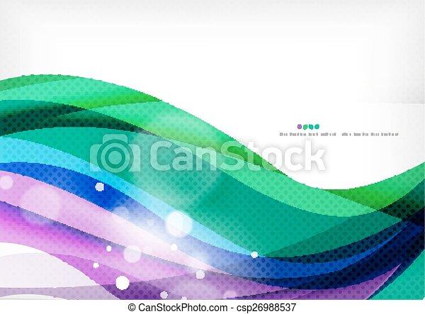 Grüne blaue lila Linie Hintergrund. - csp26988537