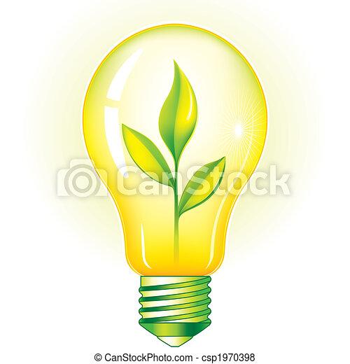 Grüne Glühbirne - csp1970398