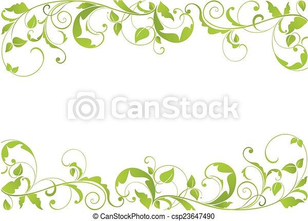 Grüne Grenze. - csp23647490
