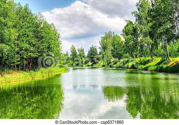 Grüne Naturlandschaft - csp6371860