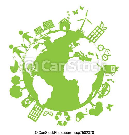 Grüne saubere Umwelt - csp7502370