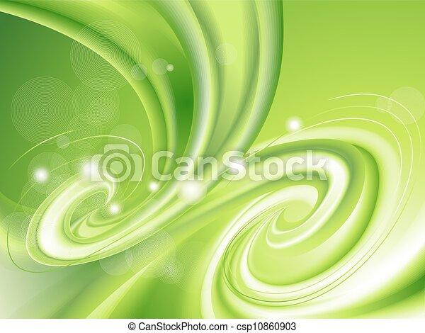 Grüner Hintergrund abbrechen - csp10860903