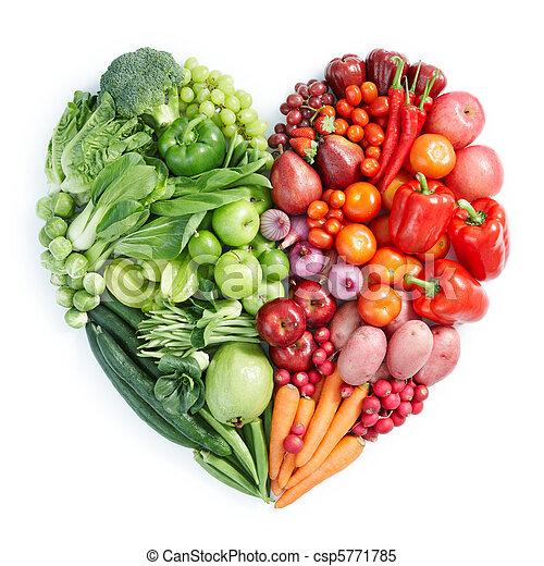 Grünes und rotes gesundes Essen - csp5771785