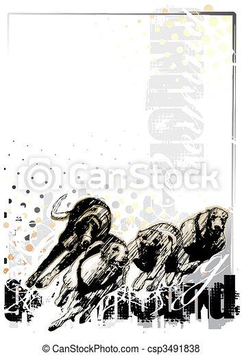 Grauer Hunde Hintergrund - csp3491838