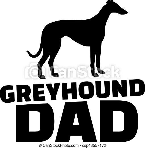 Greyhound Dad. - csp43557172