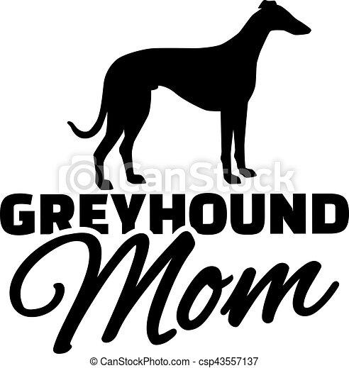 Greyhound-Mutter. - csp43557137