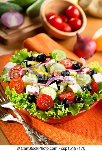 Griechischer Salat - csp15197170