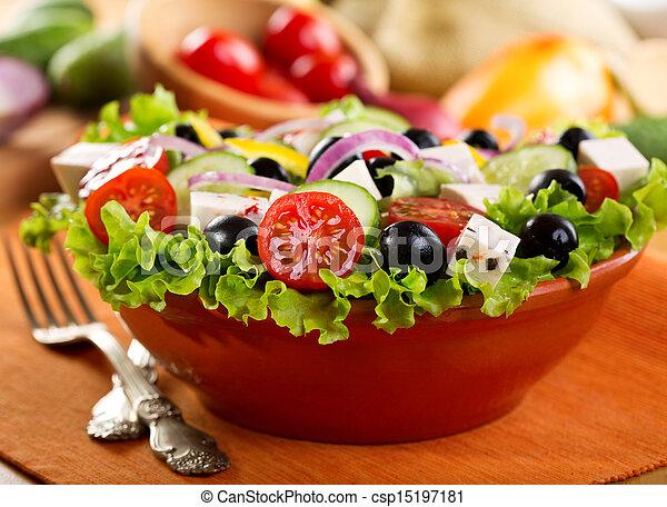 Griechischer Salat - csp15197181