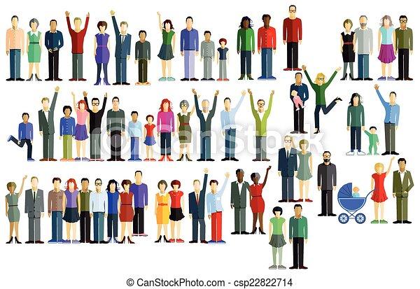 Eine große Gruppe von Leuten - csp22822714