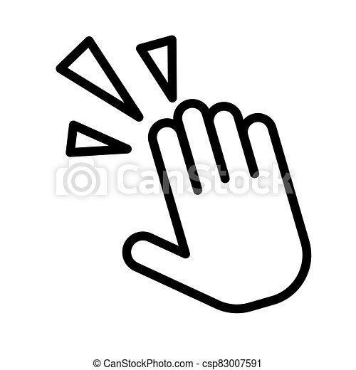 grobdarstellung, krämpfe, white., illustration., wohnung, schmerz, vektor, hand, schwarz, weißes, handgelenk, freigestellt, oder, einfache , icon. - csp83007591